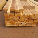 Rough sawn lumber at the sawmill
