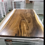 Finished slab table top